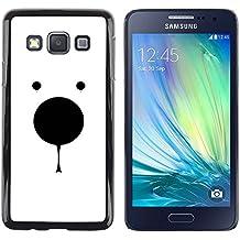 DEMAND-GO Smartphone Rígido Protección única Imagen Carcasa Funda Tapa Skin Cover Case Para Samsung Galaxy A3 SM-A300 - polar bear minimalist white black cute