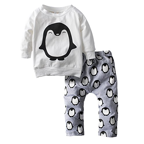 Big Elephant 2 Stück Baby Jungen Graphic Long Sleeve Top Hosen Kleidung Set H16 (Graphic Jungen Kleinkind T-shirt)