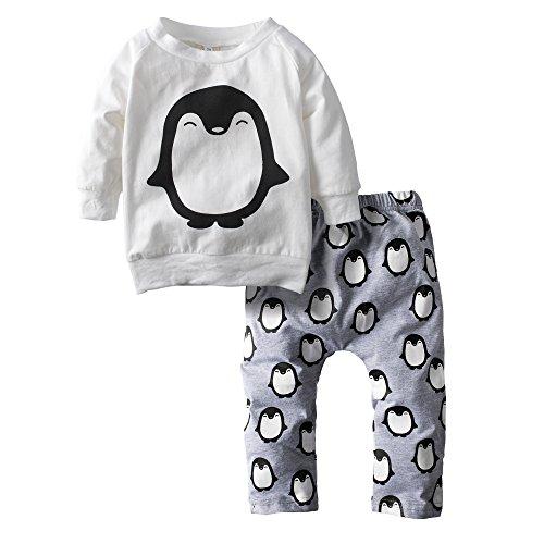 Big Elephant 2 Stück Baby Jungen'Grafik Langes Hülsen Hosen Kleidungs Satz H11 (Lange Grafik)
