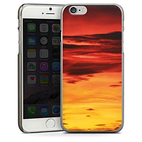Apple iPhone 5s Housse Étui Protection Coque Soleil couchant Nuages Coucher de soleil CasDur anthracite clair