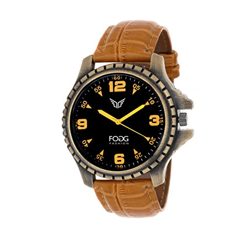 Fogg Analog Black Dial Men\'s Watch 1082-YL