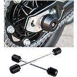 CHUDAN Kit de Almohadilla de Choque de Motocicleta Marco de Aluminio protección del Eje de la
