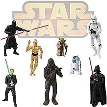 8 Star Wars Llavero Figuras Darth Vader Yoda Stormtrooper R2D2 C-3PO
