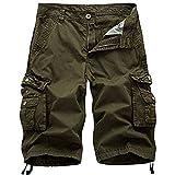 NPRADLA Casual Men Pure Color Outdoors Pocket pour Hommes Pantalon De Travail Cargo Beach