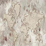 papier peint panoramique Personnalisé Autocollant Étanche Toile Murale Papier Peint 3D Rétro Carte Du Monde Style Européen Décor À La Maison Mur Peinture Stickers Muraux