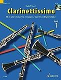 Clarinettissimo: Fit in allen Tonarten: Übungen, Duette und Spielstücke. Band 1. 1-2 Klarinetten. Ausgabe mit CD. - Rudolf Mauz
