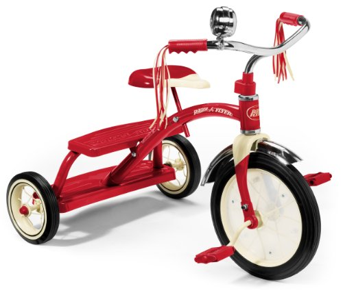 Radio Flyer Classic Dual Deck triciclo, color rojo (48034)