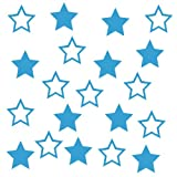 20 Sterne-Aufkleber zur Dekoration von Autos, Motorrädern, Fahrrädern und allen anderen Fahrzeugen