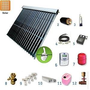 Solarpaket TWL EtaSunPro HLK30-3 Vakuumröhrenkollektorset 14,04m²