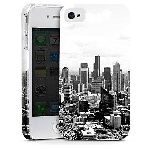 Apple iPhone 7 Silikon Hülle Case Schutzhülle City Stadt Skyline Premium Case glänzend