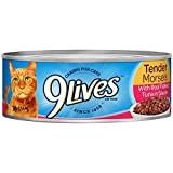 9Lives Real Flaked Tuna In Sauce Wet Cat Food, 5.5-Ounce Cans (Pack Of 24)