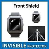 UNSICHTBARE Displayschutzfolie für Ihr Pebble Time Smart Watch (Front) welche aus einem kratzfesten Material hergestellt wird