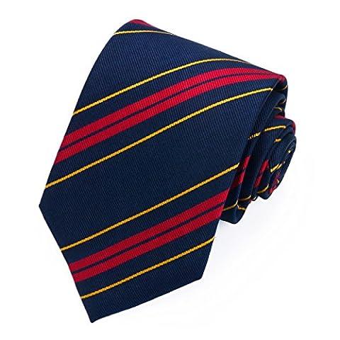 Necktie Black 100% Silk Mens Tie Royal Logistic Corps Premium Wedding Collection