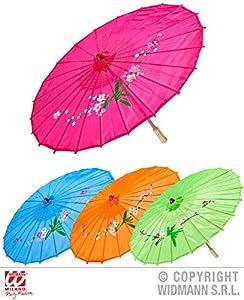 widmann-wdm66781disfraz Adulto Unisex, Rosa Color Azul y Naranja Verde, wdm66781