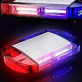 126 Luz Azul & rojo LED estroboscópica intermitentes para emergencia peligro advertencia vehículos de construcción luz minibar luz de advertencia luminosa con base magnética