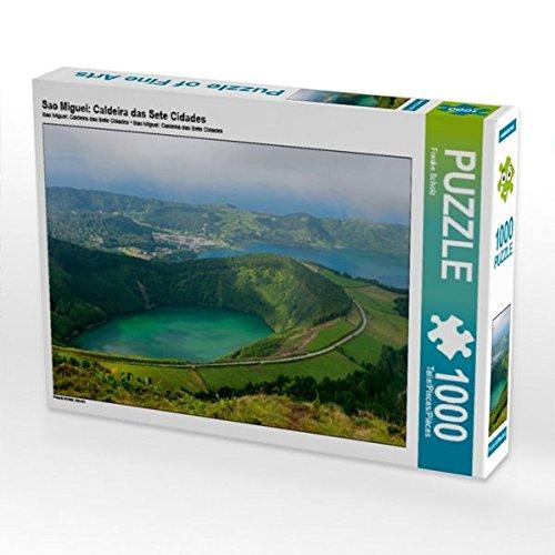 Preisvergleich Produktbild Sao Miguel: Caldeira das Sete Cidades 1000 Teile Puzzle quer: Azoren (CALVENDO Orte)