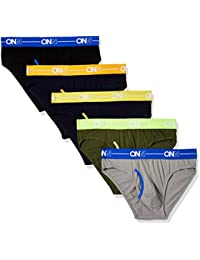 ONN Men's Cotton Brief (Pack of 5) (Colors May Vary)