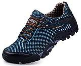 CAGAYA Damen Herren Wanderschuhe Barfußschuhe Trekkingschuhe Sommer Outdoor Fitnessschuhe Wasserschuhe Sneaker 39-45 (40, Blau-R)