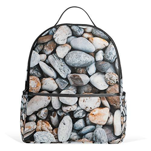 LORONA Schulrucksack mit Kieselsteinen, für Jungen und Kinder -