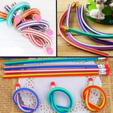 Preisvergleich Produktbild 10 PCS Soft Flexible Free Bendable Magic Pencils Set with Eraser