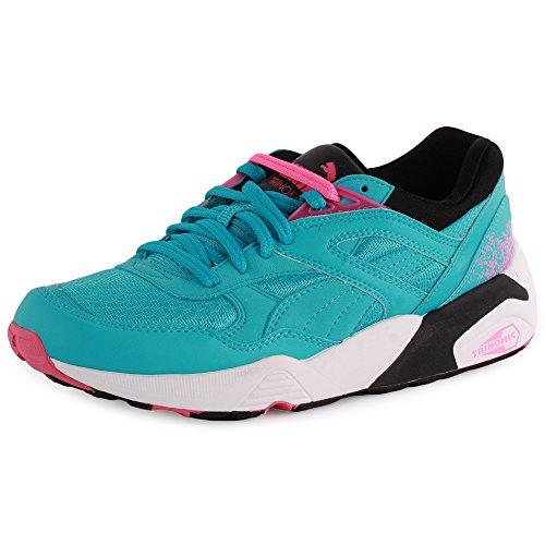 Puma Trinomic R698 sport Sneaker women Trainers 357331 03 blue hellblau / weiß