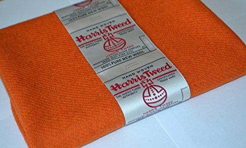 Harris Tweed Stoff 100% reine Schurwolle orange halben Meter...