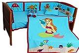 9 Pcs. Crib Bedding Set Sea Animal Theme without Bumper