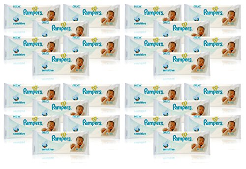 24x Pampers SENSITIVE BABY WIPES Handy Travel Size Convenience 12 WIPES PER PACK 51bvAvLGVZL