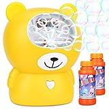 WloveTravelAutomatisches Seifenblasenmaschine Spielzeug für Kinder Bubble Blower mehr als 800 Bubbles pro Minute, auch ideal für Party oder Hochzeit