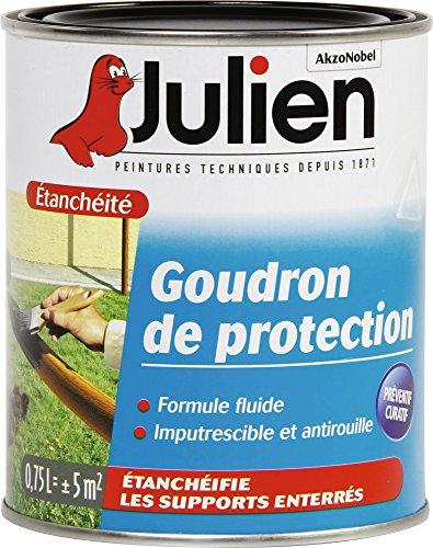 Le Goudron julien115003Bas, Noir Vernis Julien 115003de Goudron, 0,75l, no