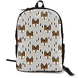 TRFashion Foxes Canvas Backpack Set Shoulder Bag Bookbag School Bag Travel Bag Girls Black Rucksack...