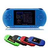 Polade 2.7inch LCD Rechargeable Game Console Retro Megadrive 16 Bit 150+ Games (blue)