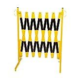 Scherengitter - mit Standfüßen - gelb/schwarz, Länge max. 4000 mm - Absperrung Absperrzaun Mobile Scherensperre Mobilzaun Scherensperre Sperrgitter Leitsystem