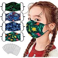4 pcs Niño 3D Reutilizables ��à����a��������as 8 pcs almohadilla, prueba polv Transpirables con Elástico para Los Oídos Lavable Respiratoria algodón al aire libre