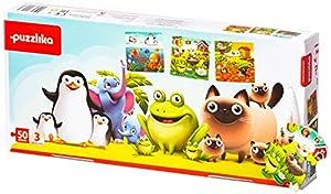 New Classic Toys P12985 - Puzzle de Tres en uno, diseño de Animales Favoritos