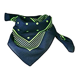 Green, White & Black Paisley Patterned Bandana Neckerchief from Ties Planet