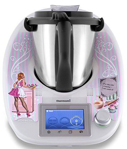 "Thermomix Aufkleber TM5 Sticker Stickerdream ""Retro Pin-Up Girl Design\"" Anpassbar durch verschiedene Sprüche Made in Germany"