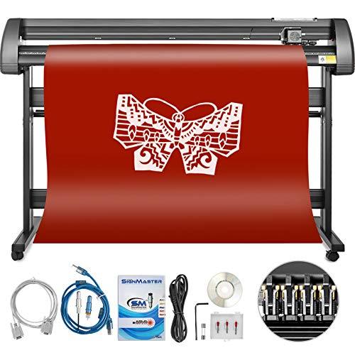 Bisujerro 1350mm Plóter de Corte 53 Pulgadas Máquina de Plotter Plóter Máquina para Hacer Signo con Escáner Signmaster Software Cutter Plotter (1350mm)