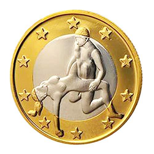 Reasoncool Sexspielzeug für Erwachsene,1 Stück Verschiedene Harte Münzen Schmuck Sammlung Sex 6 Euro Position Paar Spielzeug