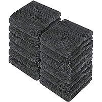 Utopia Towels 12 Cotton Washcloths, 700 GSM Wash Cloths - 30 x 30 cm, Grey