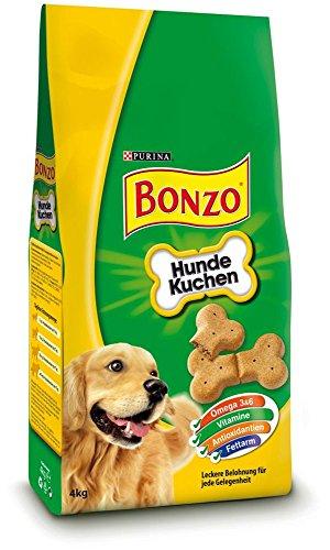 Bonzo Biskuits Hundesnack Hundekuchen,1er Pack (1 x 4 kg)