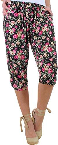 BD Damen Stretch Sommerhose Strandhose Capri Pumphose Plussize Übergröße bis 5XL 11