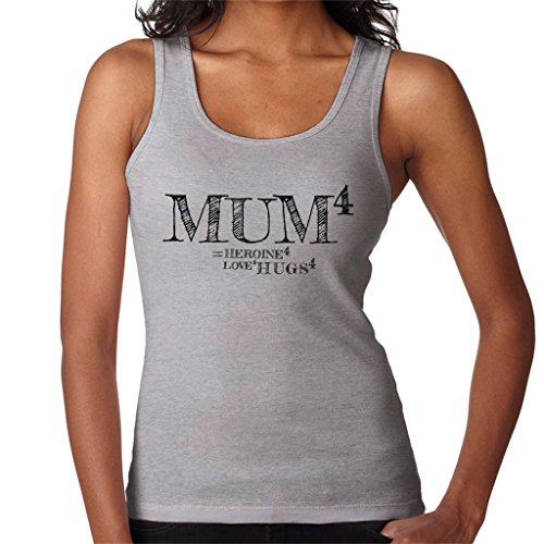 Mum To The Power Of 4 Womens Vest Heather Grey