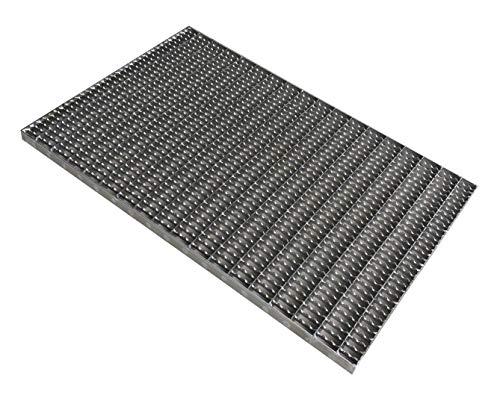Gitterrost Edelstahl rutschhhemmend 60 x 40 für Bodenwannen und Zargen, Maschenweite 3 x 1cm