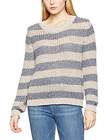 Tommy Hilfiger Jazzi Swtr, Pull Femme, Multicolore (Oatmeal/Eclipse), 36 (Taille Fabricant: Small)