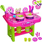 Unbekannt große Kinderküche - incl. Zubehör ! -  Disney Minnie Mouse  - für Kinder - Geschirr & Töpfe - Spielküche aus Kunststoff / Plastik - Kochfeld / Tischküche - ..