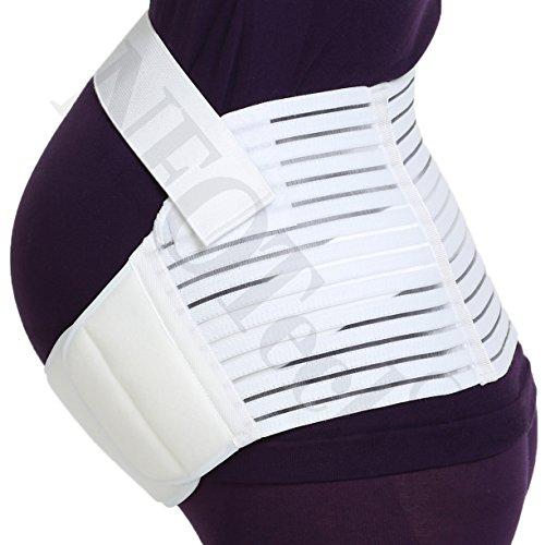 Ceinture de maternité de marque NEOtech Care (TM ) - Support lombaire et soutien abdominal / abdomen lors de la grossesse, pour femme enceinte - Couleur blanche - Taille M (voir description) Noire
