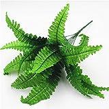 Qinlee 2x Künstliche Pflanzen Landschaft Dekoartikel Garten Home Desktop Hochzeit Dekoration Ornamente Bonsai Scenery Farndekoration DIY Craft Garten Ornament