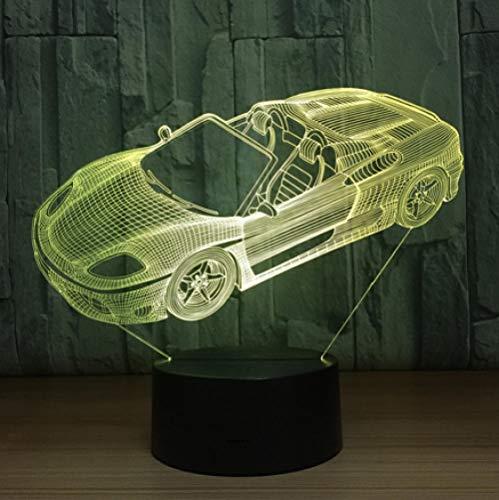 Joplc Kreative 3D Nachtlicht Abendessen Auto Tischlampe Schreibtisch Tischlampe Neuheit Led Beleuchtung Wohnkultur Jungen Geschenk (Kinder Halloween-abendessen-ideen Für)