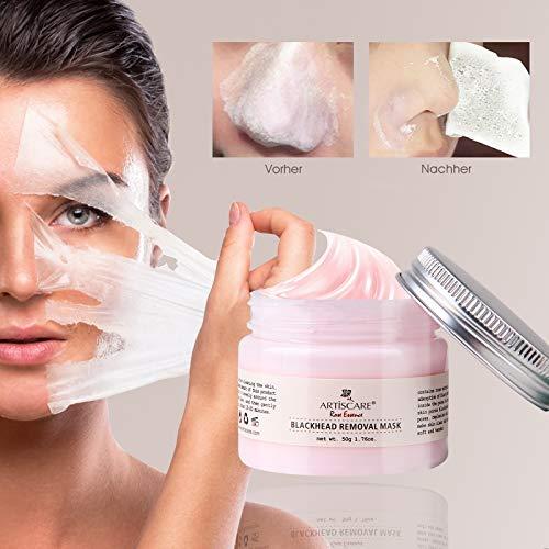 Blackhead Remover Maske, Mitesser Maske, Rose Essenz Gesichtsmaske, Peel Off Maske, Deep Cleaning Tiefenreinigung Anti Aging, gegen unreine Haut, Akne, fettige Haut & Mitesser